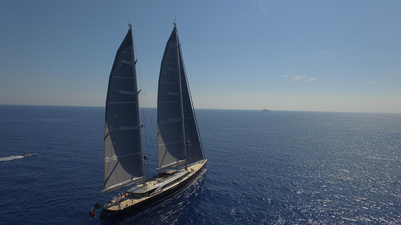 Perini Navi sailing superyacht Sybaris   Finest Residences