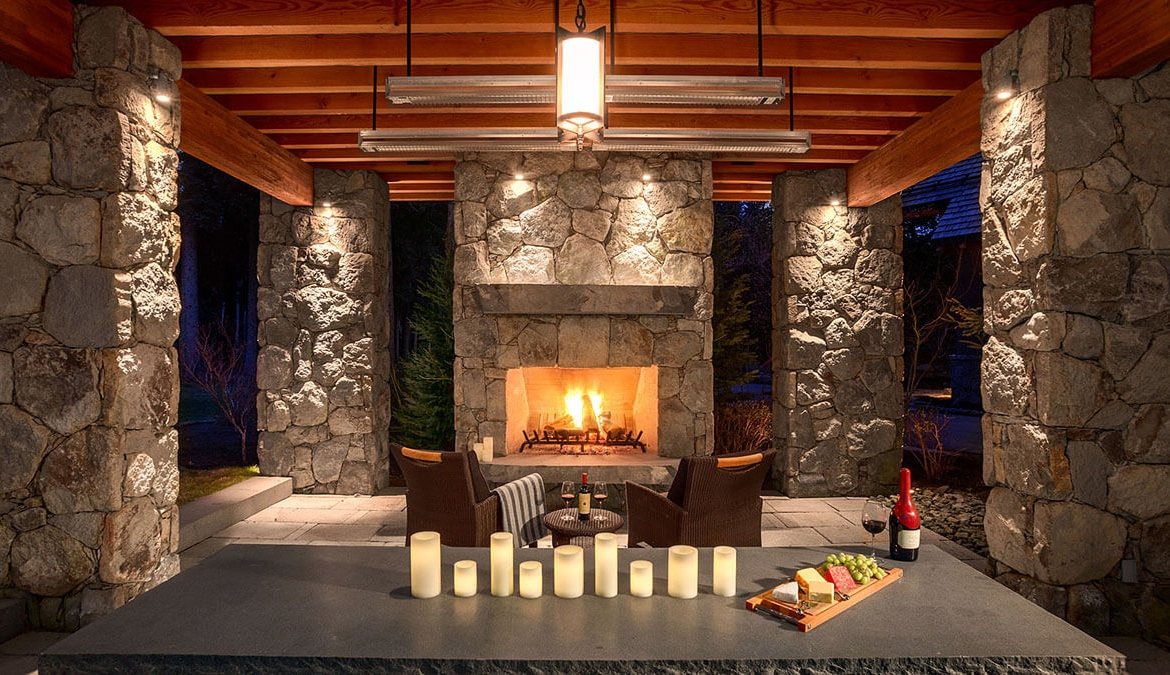 Whistler Estate, Exterior Fireplace | Vancouver luxury real estate | Harvey Kardos | Finest Residences