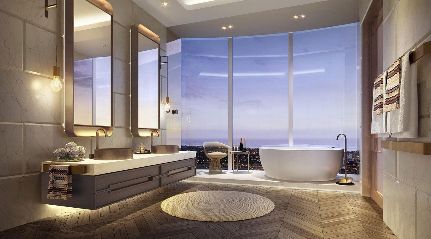 Capitol Grand Penthouse in Melbourne, Australia | Bathroom | LK Property Group | Finest Residences