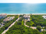 Luxury real estate in Vero Beach, Florida, an aerial view