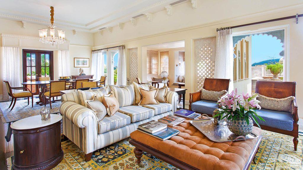 The Oberoi Udaivilas, Udaipur, Rajasthan. Living room | Finest Secrets |Finest Residences