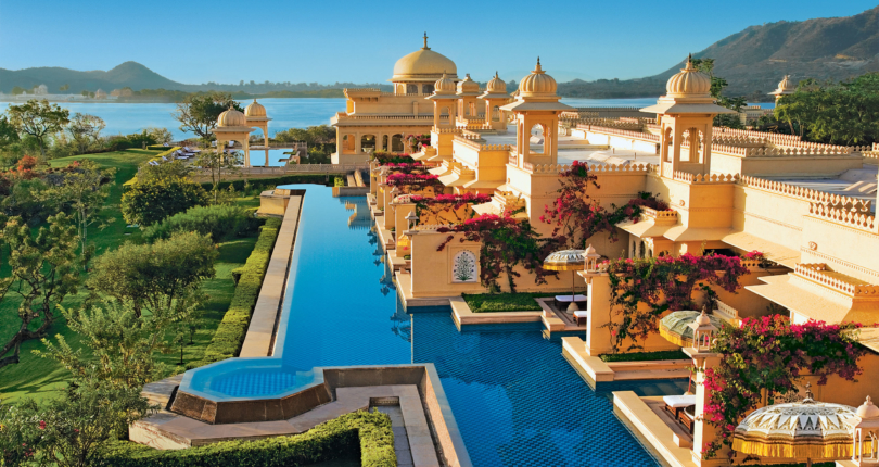 The Oberoi Udaivilas, a palace in Rajasthan's City of Lakes