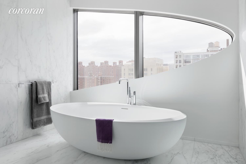 Zaha Hadid Penthouse, 520 West 28th Street, Chelsea, New York | A Bathroom View |Corcoran | Finest Residences