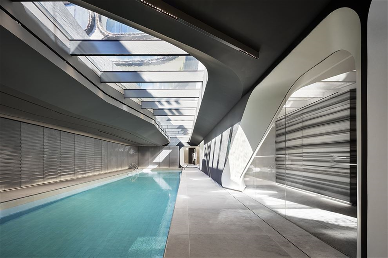 Zaha Hadid Penthouse, 520 West 28th Street, Chelsea, New York | The Swimming Pool |Corcoran | Finest Residences