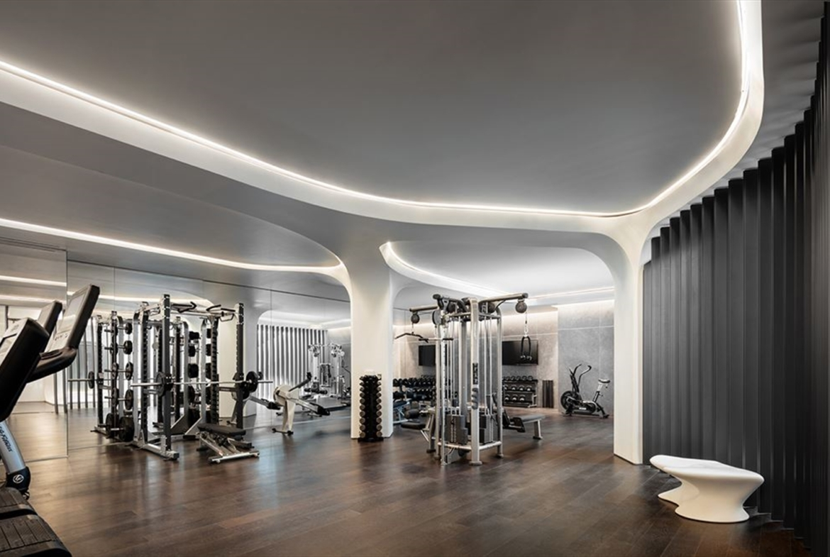 Zaha Hadid Penthouse, 520 West 28th Street, Chelsea, New York | The Fitness Center |Corcoran | Finest Residences