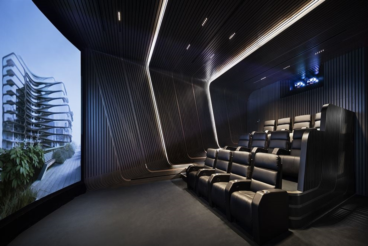 Zaha Hadid Penthouse, 520 West 28th Street, Chelsea, New York | The private IMAX theater |Corcoran | Finest Residences