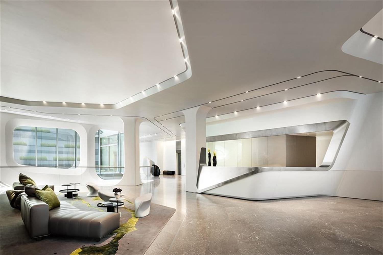 Zaha Hadid Penthouse, 520 West 28th Street, Chelsea, New York | The Lobby |Corcoran | Finest Residences