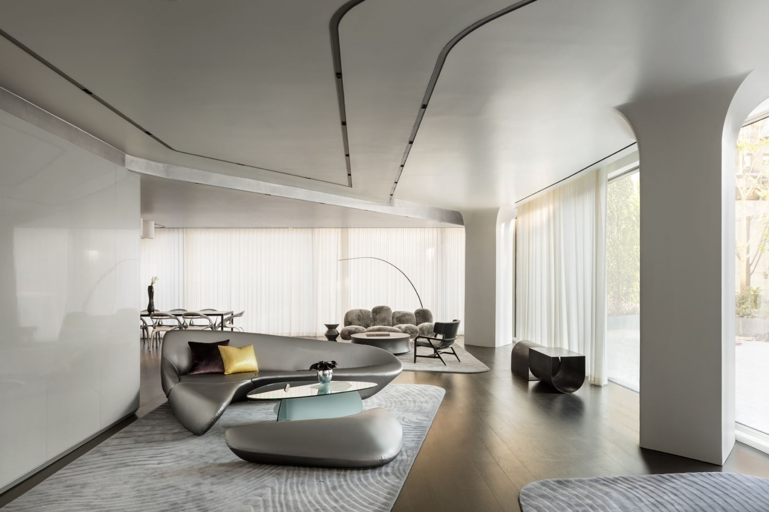 Zaha Hadid Penthouse, 520 West 28th Street, Chelsea, New York | The Reservable Lounge |Corcoran | Finest Residences