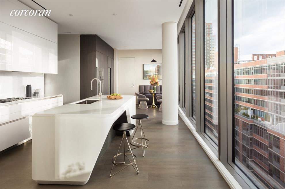 Zaha Hadid Penthouse, 520 West 28th Street, Chelsea, New York | A Kitchen View |Corcoran | Finest Residences