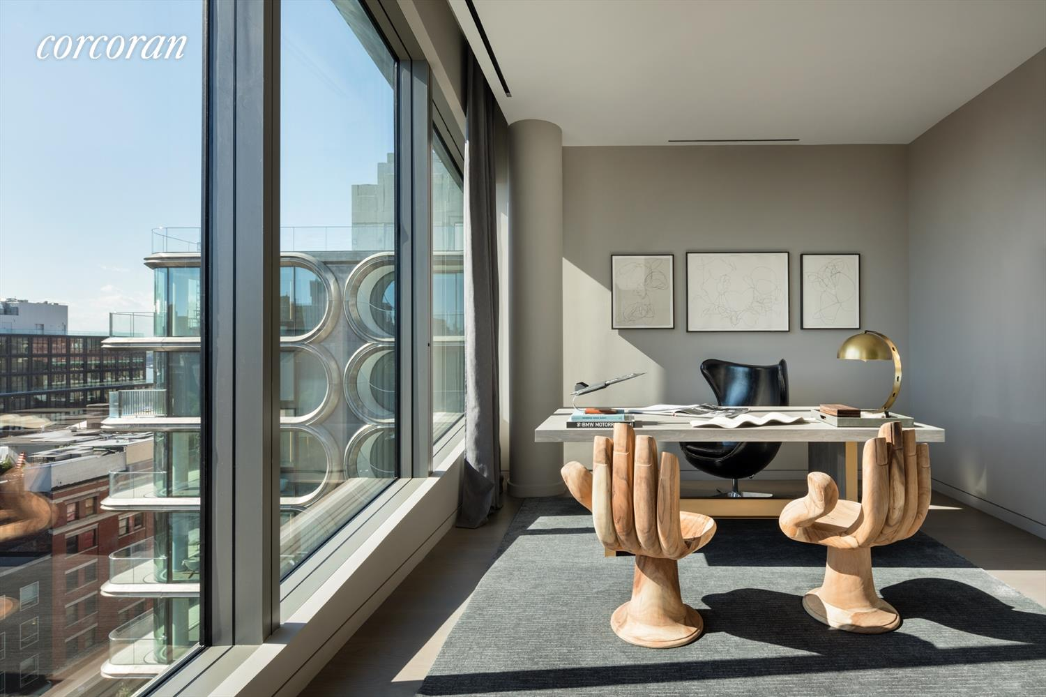 Zaha Hadid Penthouse, 520 West 28th Street, Chelsea, New York | A Home Office View |Corcoran | Finest Residences