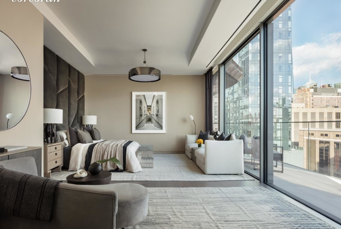Zaha Hadid Penthouse, 520 West 28th Street, Chelsea, New York | A Master Bedroom View |Corcoran | Finest Residences