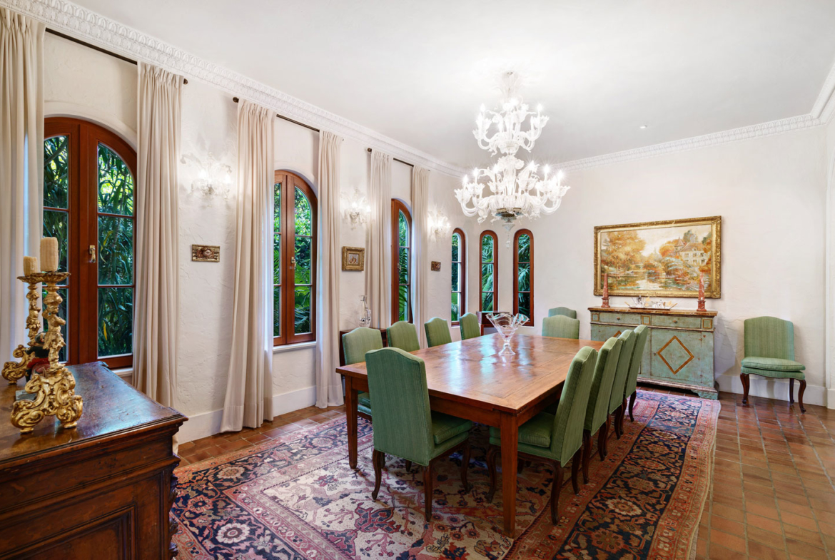 3725 Leafy Way, Coconut Grove, Miami, Florida, USA | An Dining Room | Listed by Dennis Carvajal, Real Estate Agent, ONE Sotheby's International Realty | Finest Residences