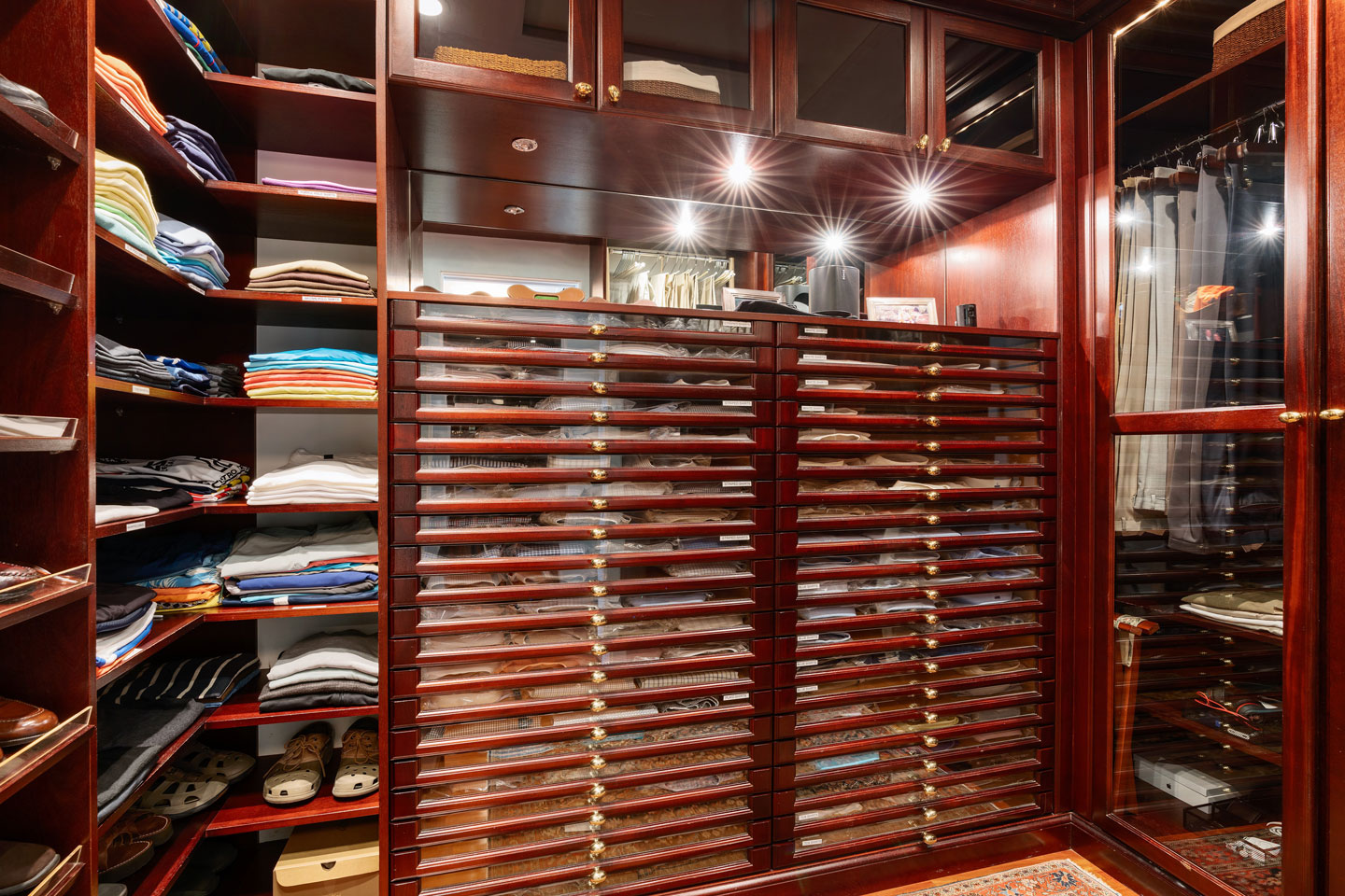 3725 Leafy Way, Coconut Grove, Miami, Florida, USA | A Walk-In Closet | Listed by Dennis Carvajal, Real Estate Agent, ONE Sotheby's International Realty | Finest Residences