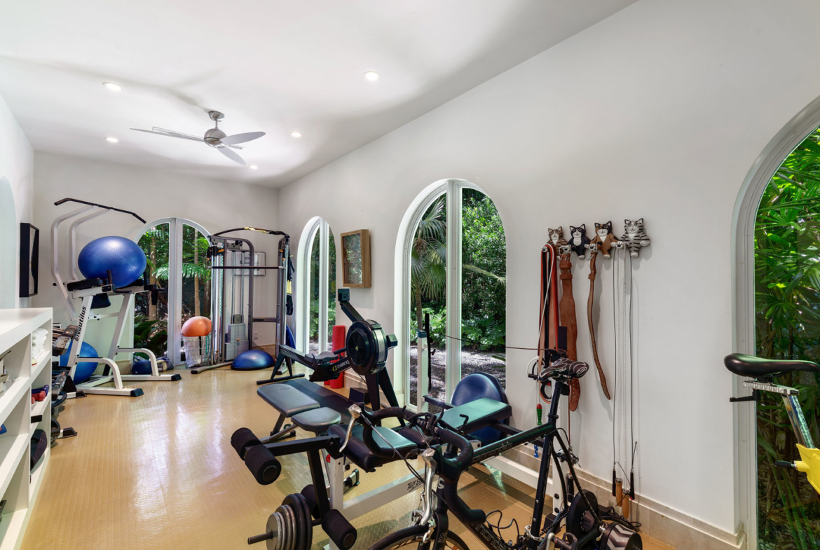 3725 Leafy Way, Coconut Grove, Miami, Florida, USA | Home Gym | Listed by Dennis Carvajal, Real Estate Agent, ONE Sotheby's International Realty | Finest Residences