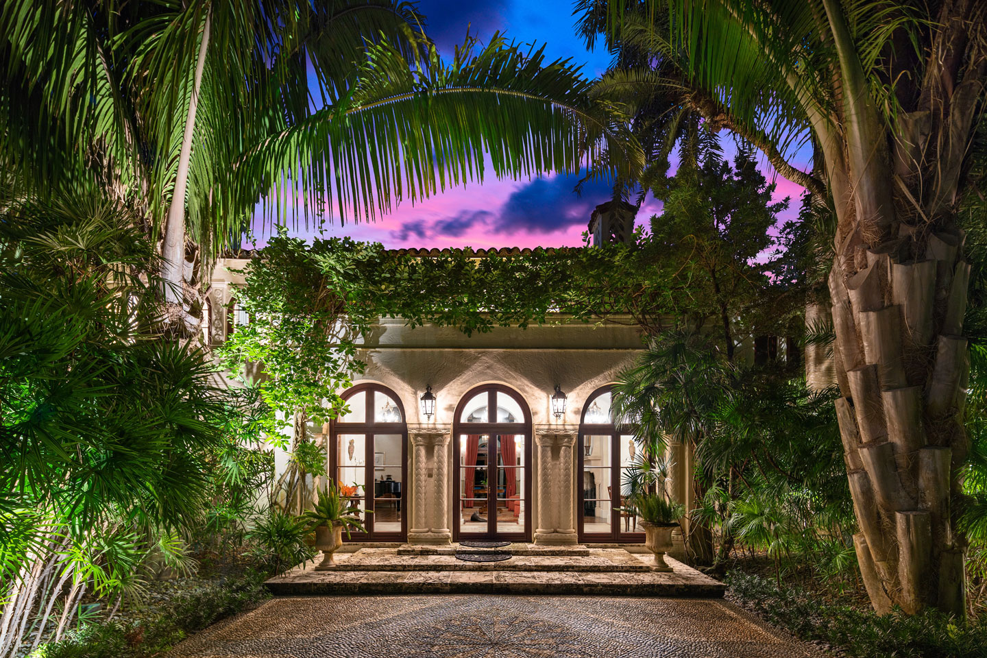 3725 Leafy Way, Coconut Grove, Miami, Florida, USA | Entrance | Listed by Dennis Carvajal, Real Estate Agent, ONE Sotheby's International Realty | Finest Residences