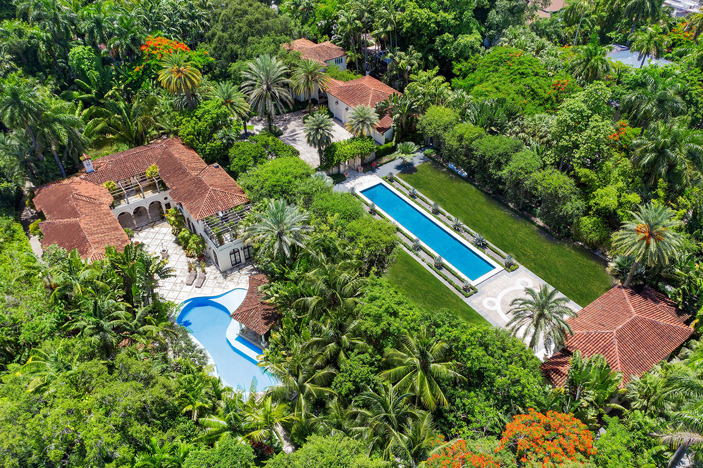 3725 Leafy Way, Coconut Grove, Miami, Florida, USA | Aerial View | Listed by Dennis Carvajal, Real Estate Agent, ONE Sotheby's International Realty | Finest Residences