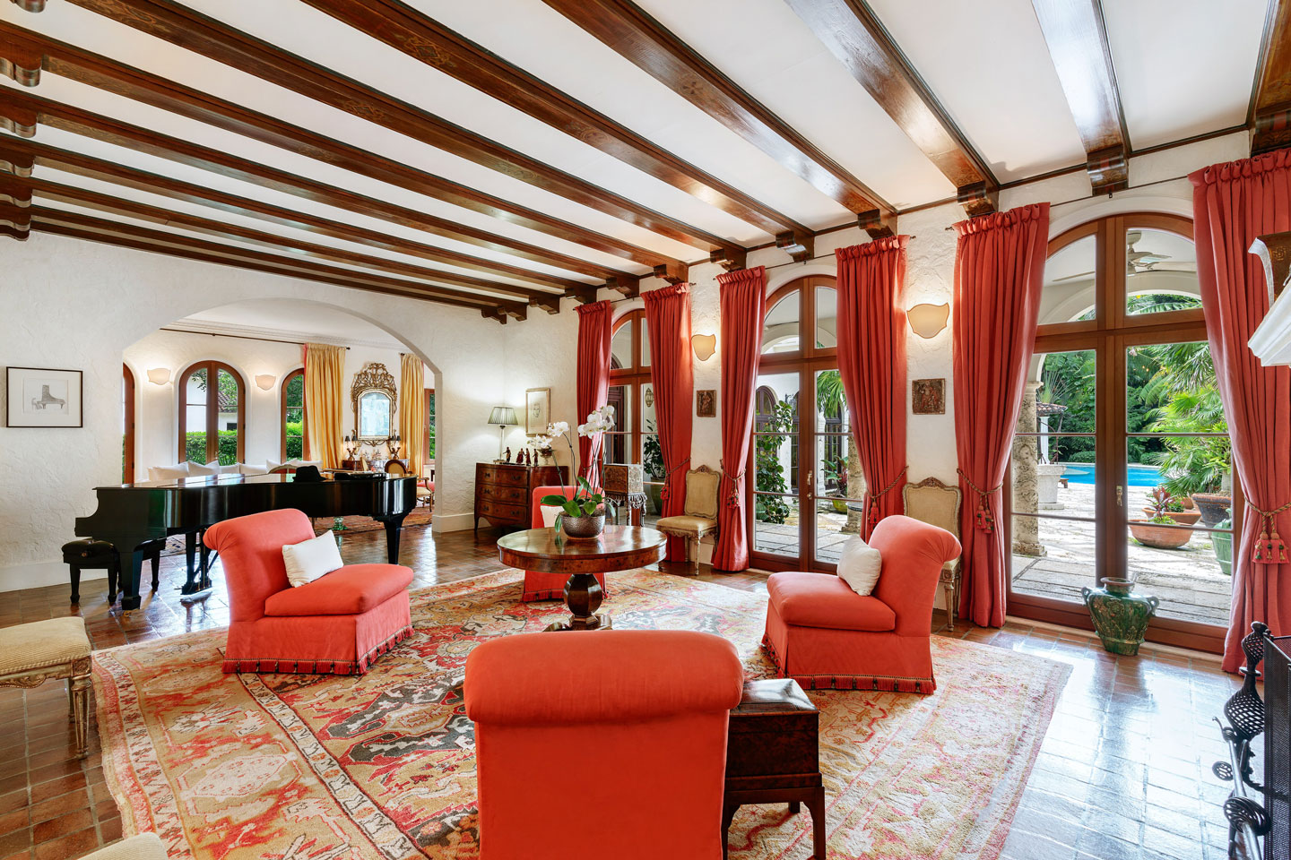 3725 Leafy Way, Coconut Grove, Miami, Florida, USA | A Living Room | Listed by Dennis Carvajal, Real Estate Agent, ONE Sotheby's International Realty | Finest Residences