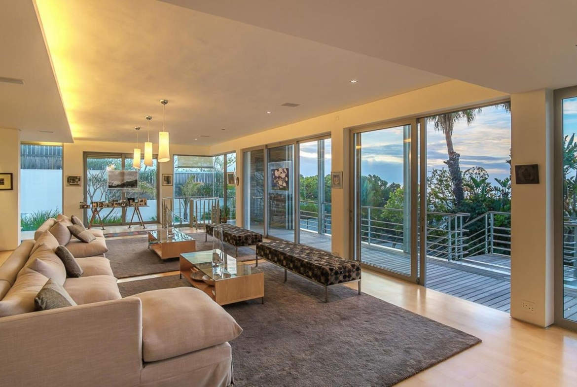Sea side property in Cape Town, South Africa | Lounge |Jawitz Properties | Finest Residences