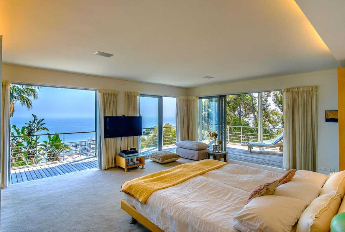 Sea side property in Cape Town, South Africa | Master Bedroom |Jawitz Properties | Finest Residences