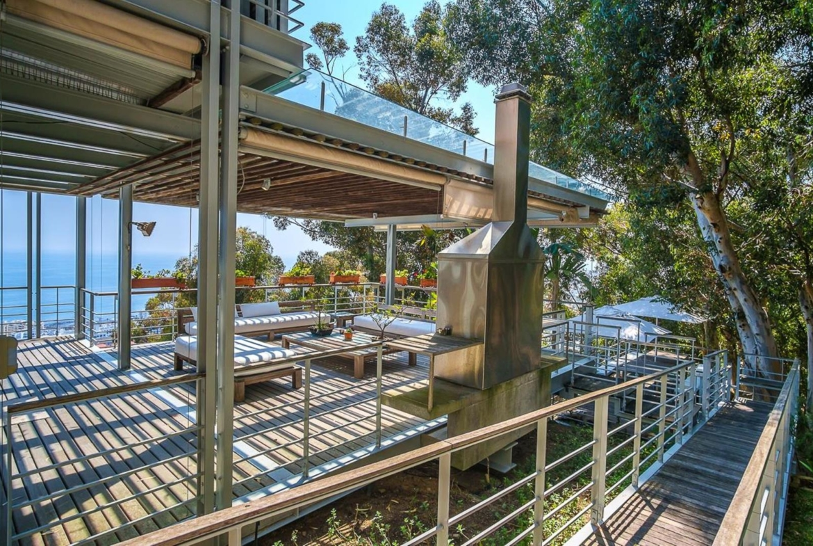 Sea side property in Cape Town, South Africa | Deck |Jawitz Properties | Finest Residences