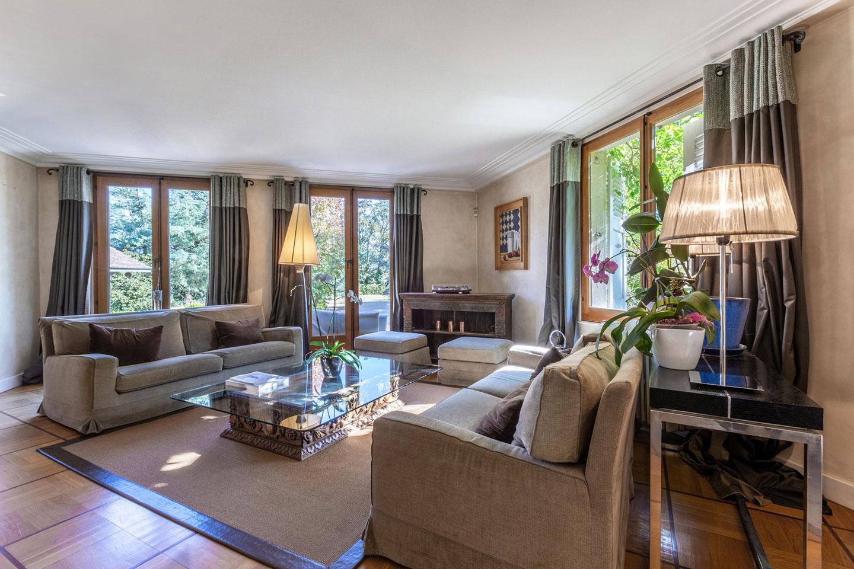 Splendid Property For Sale in Geneva Left Bank, Collonge-Bellerive | Living Room |Presented by Finest International | Finest Residences