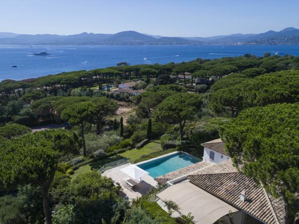 Luxury Property in Les Parcs de Saint Tropez, Côte d'Azur, France • Aerial View On The Villa |Listed by Bernard Corcos, CEO of Finest International | FINEST RESIDENCES