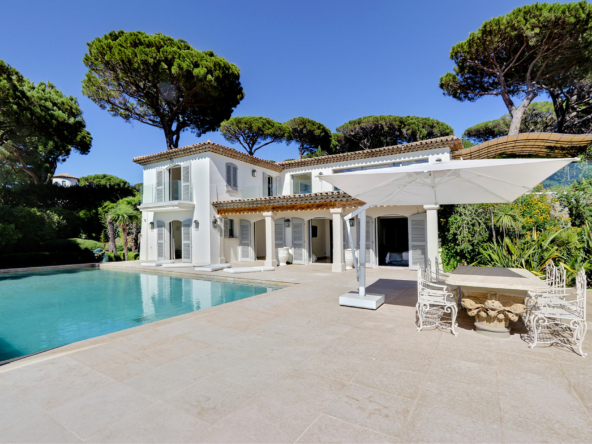 Luxury Property in Les Parcs de Saint Tropez, Côte d'Azur, France • View From The Garden and Pool Terrace |Listed by Bernard Corcos, CEO of Finest International | FINEST RESIDENCES