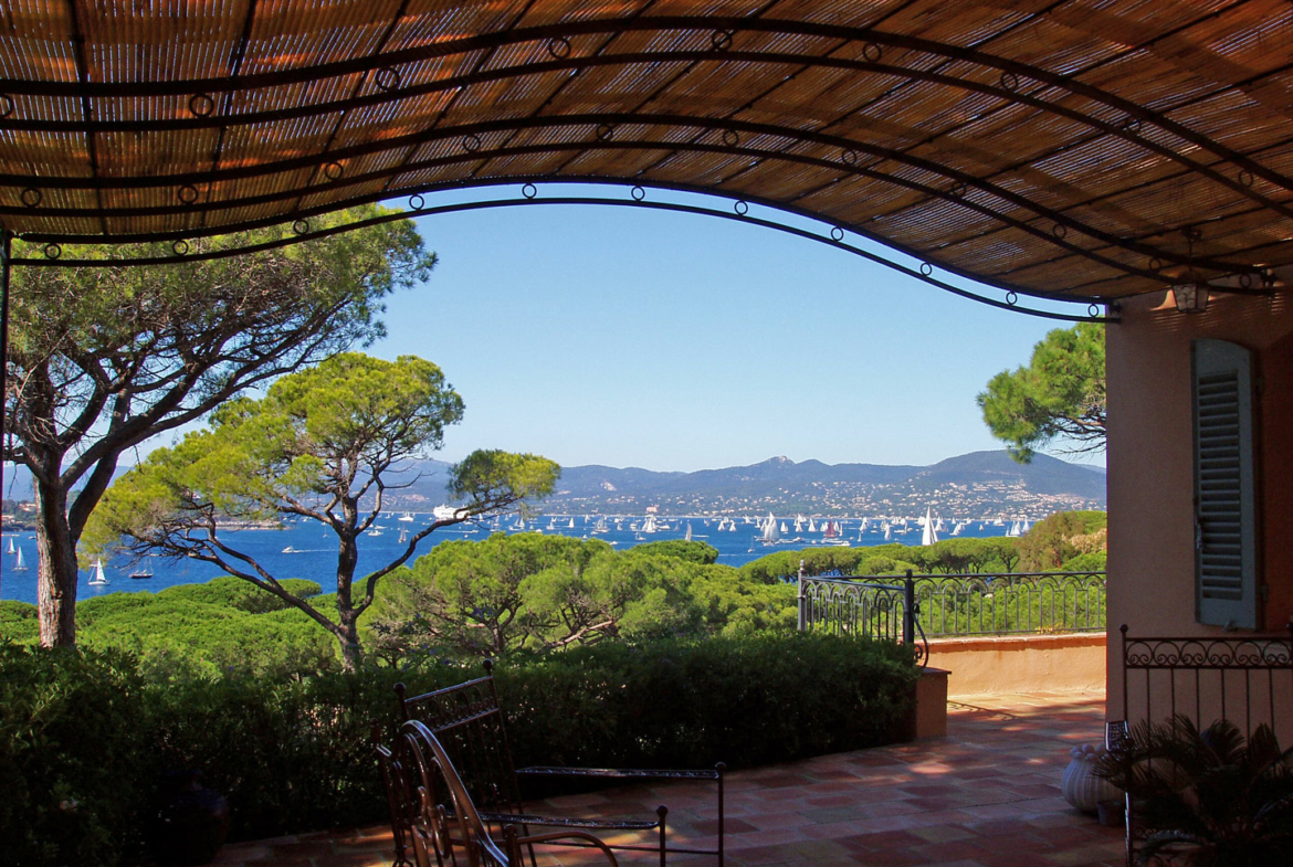 Luxury Property in Les Parcs de Saint Tropez, Côte d'Azur, France • A View From a Pergola | Listed by Bernard Corcos, CEO of Finest International | FINEST RESIDENCES